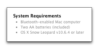 Apple Magic Trackpad System Requirements