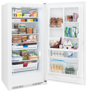 I Found The Frigidaire Upright Freezer Fffh21f6qw Which Turned Out To Offer Even More Features Than Its Predecessor Albeit At About 70