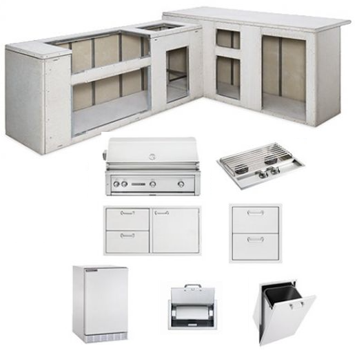 Lynx L7000 Sedona Series Ready-to-Finish Outdoor Kitchen Island Package
